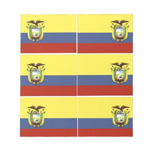 bandera del ecuadorian blocs de papel