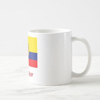 Bandera del Ecuadorian Taza Básica Blanca
