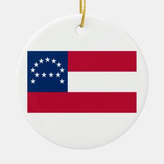 Bandera del ejército confederado de Virginia Adorno Redondo De Cerámica