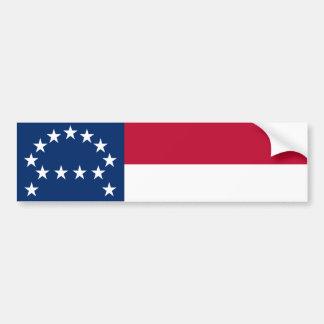 Bandera del ejército confederado de Virginia Pegatina Para Auto
