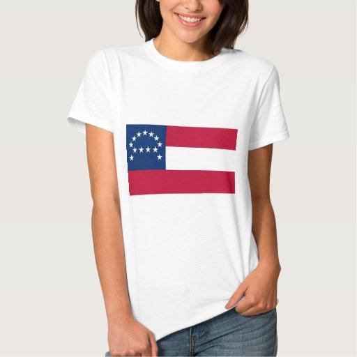 Bandera del ejército confederado de Virginia Tee Shirt
