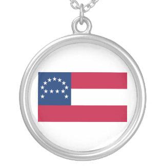 Bandera del ejército confederado de Virginia septe Colgante Redondo