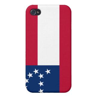 Bandera del ejército confederado de Virginia septe iPhone 4 Cárcasas