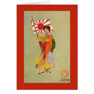Bandera del ejército de japonés imperial tarjeta de felicitación