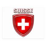 Bandera del emblema del escudo del logotipo de Sui Postales