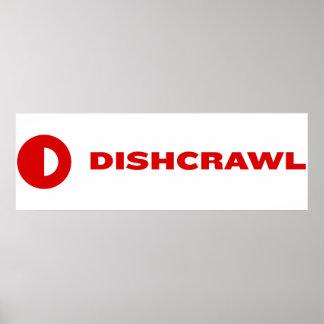 Bandera del enregistramiento de Dishcrawl Póster