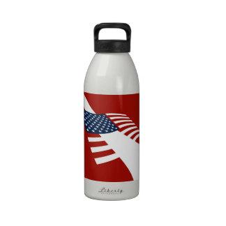 Bandera del equipo de submarinismo de la bandera a botella de beber
