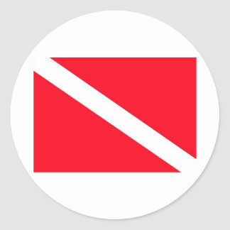 Bandera del EQUIPO DE SUBMARINISMO - Etiquetas Redondas