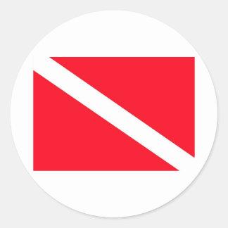 Bandera del EQUIPO DE SUBMARINISMO - personalizabl Etiquetas