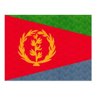 Bandera del Eritrean del modelo del vintage Tarjetas Postales