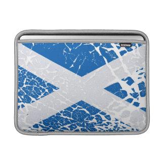Bandera del escocés del Grunge Fundas MacBook