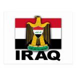 Bandera del escudo de armas de Iraq Tarjetas Postales