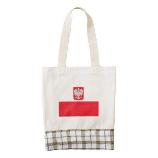 Bandera del escudo de armas de Polonia Bolsa Tote Zazzle HEART