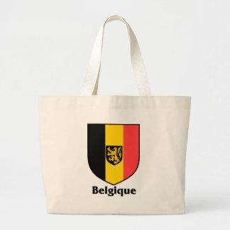 Bandera del escudo/de Bélgica de Belgique Bolsa Tela Grande