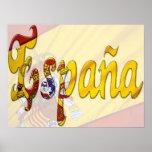 Bandera del español del ~ de España Banderas Póster