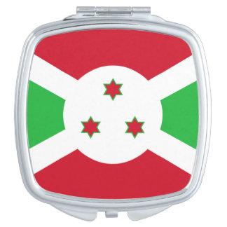 Bandera del espejo compacto cuadrado de Burundi