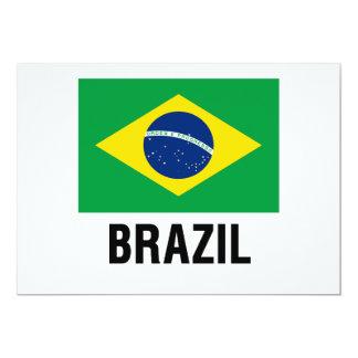 """bandera DEL ESQUEMA del Brasil Invitación 5"""" X 7"""""""