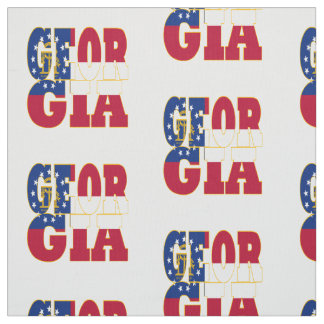 Bandera del estado americano de Georgia Telas