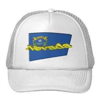 bandera del estado de 3D Nevada Gorros Bordados