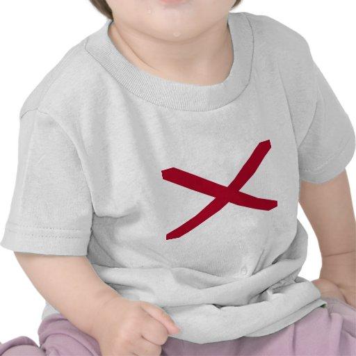 Bandera del estado de Alabama Camisetas