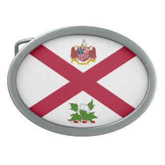 Bandera del estado de Alabama Hebillas De Cinturón Ovales
