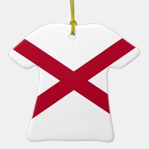 Bandera del estado de Alabama Ornamento De Navidad
