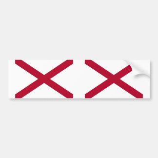Bandera del estado de Alabama Pegatina Para Auto