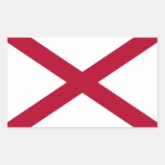 Bandera del estado de Alabama Pegatina Rectangular