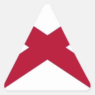 Bandera del estado de Alabama Pegatina Triangular