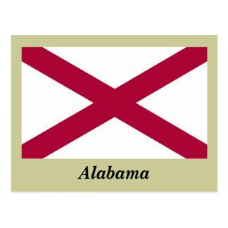 Bandera del estado de Alabama Tarjeta Postal