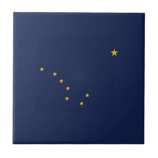 Bandera del estado de Alaska Azulejo Cuadrado Pequeño