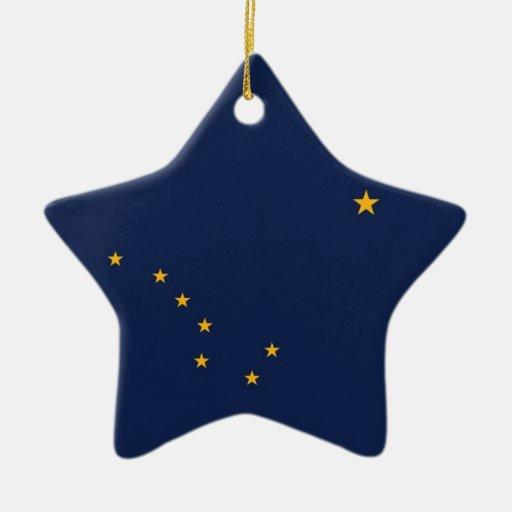Bandera del estado de Alaska Adorno De Cerámica En Forma De Estrella