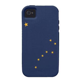 Bandera del estado de Alaska Vibe iPhone 4 Carcasas