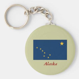 Bandera del estado de Alaska Llavero Redondo Tipo Pin