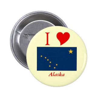 Bandera del estado de Alaska Pin Redondo De 2 Pulgadas
