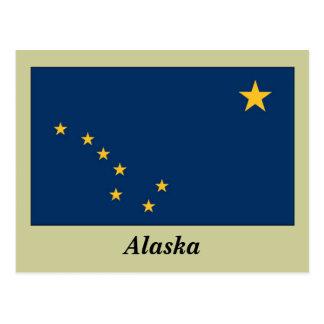 Bandera del estado de Alaska Tarjeta Postal