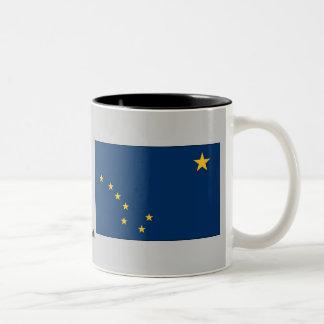 Bandera del estado de Alaska Taza De Dos Tonos