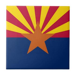 Bandera del estado de Arizona Azulejo Cuadrado Pequeño
