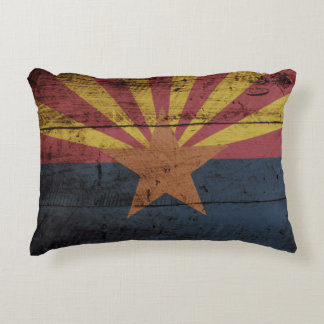 Bandera del estado de Arizona en grano de madera