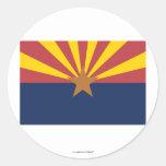 Bandera del estado de Arizona Etiqueta Redonda
