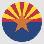 Bandera del estado de Arizona Etiquetas Redondas