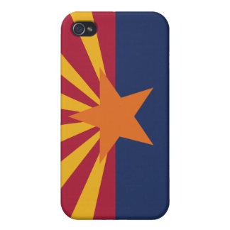 Bandera del estado de Arizona iPhone 4/4S Funda
