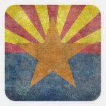 Bandera del estado de Arizona Pegatina Cuadrada