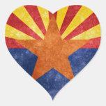 Bandera del estado de Arizona Pegatina En Forma De Corazón