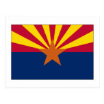 Bandera del estado de Arizona Tarjeta Postal