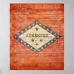 Bandera del estado de Arkansas Impresiones