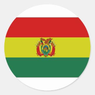 Bandera del estado de Bolivia Pegatina Redonda