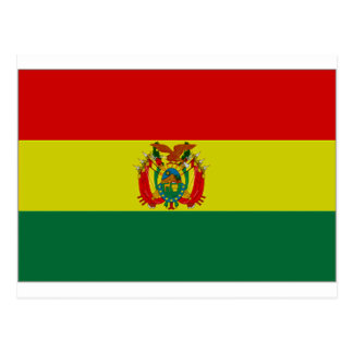 Bandera del estado de Bolivia Tarjeta Postal