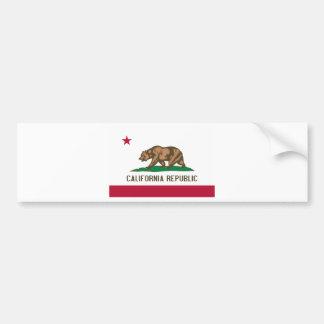 Bandera del estado de California Pegatina De Parachoque