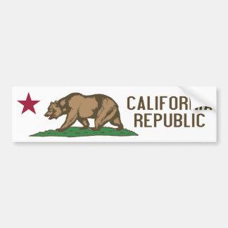 Bandera del estado de California Etiqueta De Parachoque